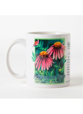 Coffee and Tea Mug - Echinacea