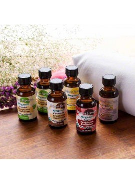 Nature's Flavors Sample Pack of Organic Fragrance Emulsions (Water Soluble)