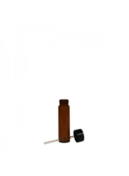 1/4 fl. oz. Amber Glass Vial with Cap