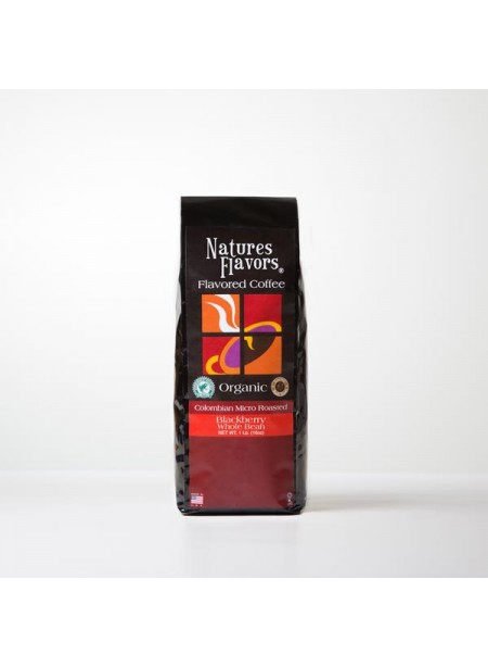 Organic Blackberry Flavored Coffee Beans (Shade Grown, Micro Roasted, Organic)