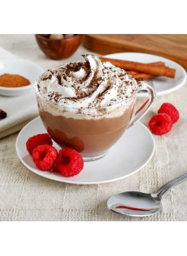 Organic Raspberry Hot Chocolate Mix (Non Dairy, Lactose free, Gluten-Free, Kosher, Vegan)