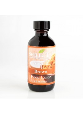 Brown Food Color Liquid Natural (Kosher, Vegan, Gluten Free, Feingold Accepted)