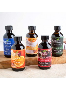 Seelect Tea Rainbow Pack of Natural Food Colors Liquid