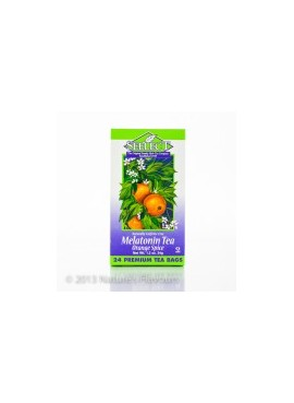 Melatonin Tea (Orange Spice) 24 Premium Tea Bags (Kosher, Gluten-free, Vegan)