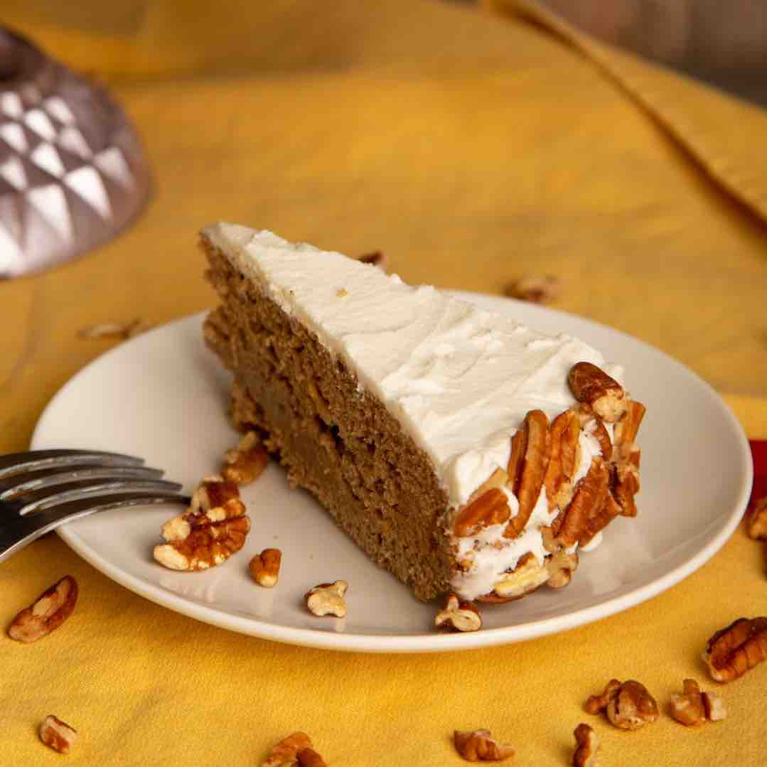 Vegan Apple Spice Cake with Rum Buttercream